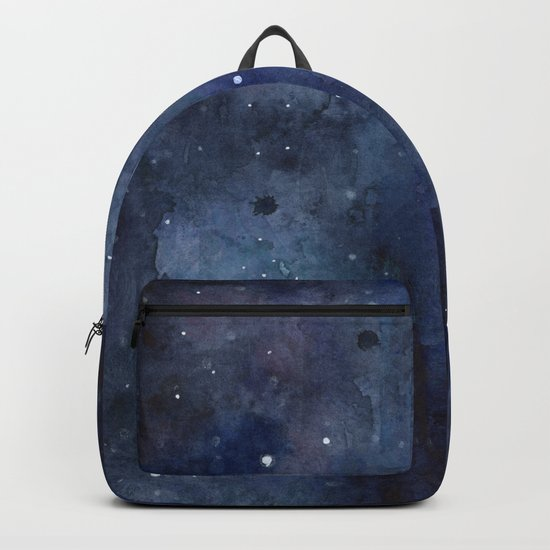 Night Sky Stars Galaxy | Watercolor Nebula Backpack
