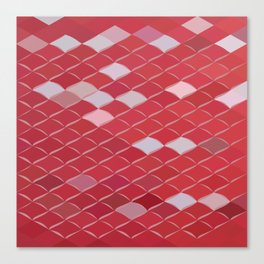 Red Carpark Abstract Low Polygon Background Canvas Print