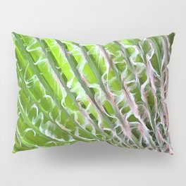 Palm Tree Tropical Leaf Pillow Sham