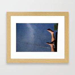 Fishing Feet Framed Art Print