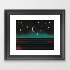 Abstract Moonscape Framed Art Print