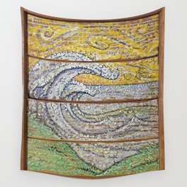 Waves on Grain Wall Tapestry