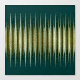 Linear Gold & Emerald Canvas Print