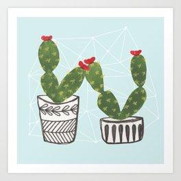 Cacti Love Art Print