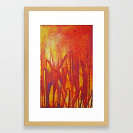 City Fire Framed Art Print