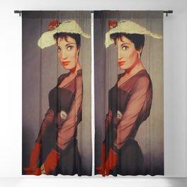 Linda Cristal, Vintage Actress Blackout Curtain