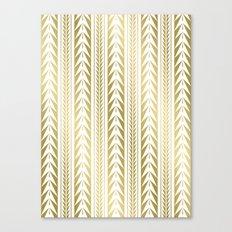Tribal Stripes Gold Canvas Print