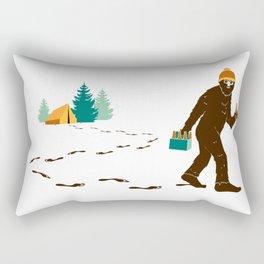 A Hairy Camp Robber Rectangular Pillow