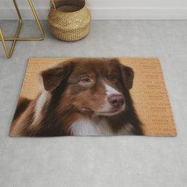 Australian Shepherd  Aussie Digital Art Rug
