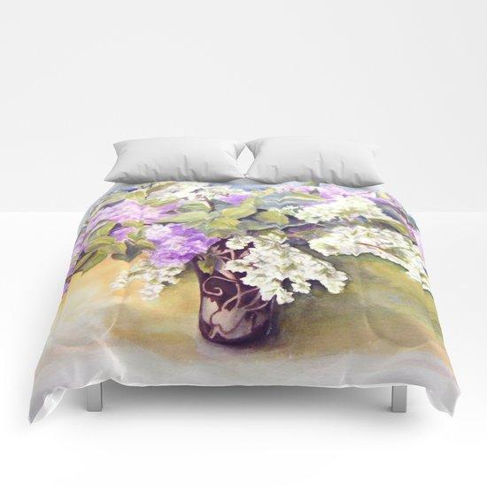 Lilacs bouquet Comforters