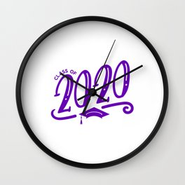 Class of 2020 Graduation Cap with tassel Wall Clock