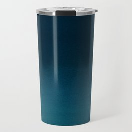 Navy blue teal hand painted watercolor paint ombre Travel Mug