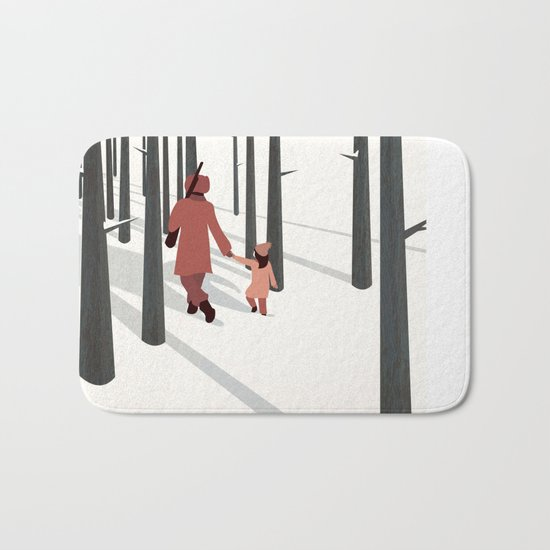 we're not out of the woods yet... Bath Mat