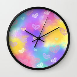 Colorful Heart Drawings Ver.8 Wall Clock