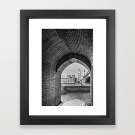Big ben and bridge Framed Art Print