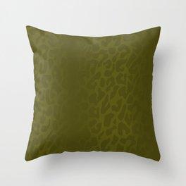 Burnt Yellow Shadowed Leopard Print Throw Pillow