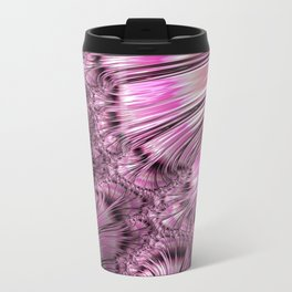Bonding Ice on Frozen Lake Fractal Travel Mug
