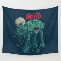 dead Wall Tapestries featuring Walker's Dead by Victor Vercesi