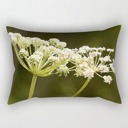 Together - White Plants On A Green Background #decor #society6 Rectangular Pillow