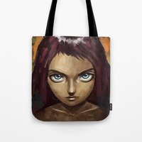 raven Tote Bags featuring Raven by Freeminds