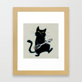 Cat with a fork Framed Art Print