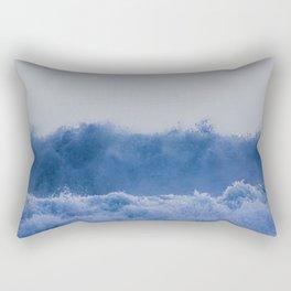 Blue Sea Wave Rectangular Pillow