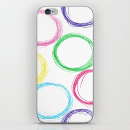Seamless pattern background with colored pencil circles iPhone Skin