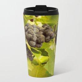 grapes and vines Metal Travel Mug