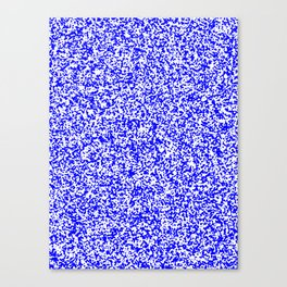 Tiny Spots - White and Blue Canvas Print