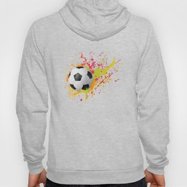 Football design with colorful splashes Hoody