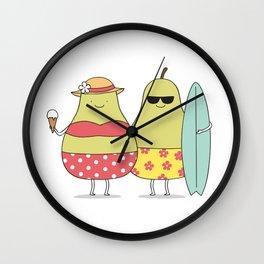 Summer pears Wall Clock