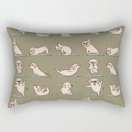 Labrador Retriever Yoga Rectangular Pillow
