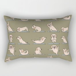 Labrador Retriever Yoga Rectangular Pillow