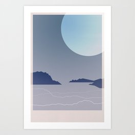 Where July Ends Art Print
