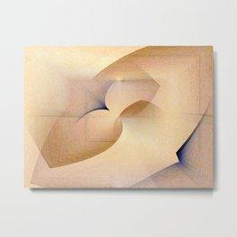 Textured Tan Abstract Metal Print