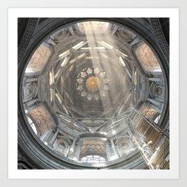 Holy geometrical ascension Art Print