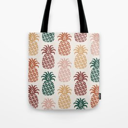 Retro Mid Century Modern Pineapple Pattern 477 Tote Bag