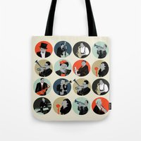 jazz Tote Bags featuring Jazz  by Prelude Posters