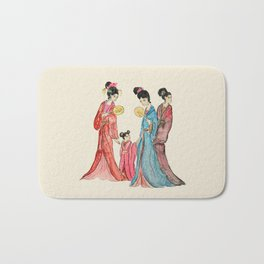 Ancient Chinese ladies painting Bath Mat