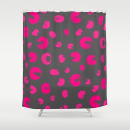 Pink mottled pattern Shower Curtain