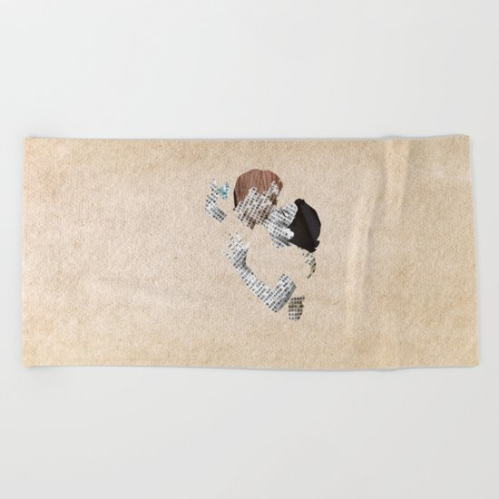 Retro Love Beach Towel