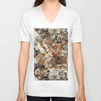 ethnic V-neck T-shirts featuring Ethnic Pattern by RIZA PEKER
