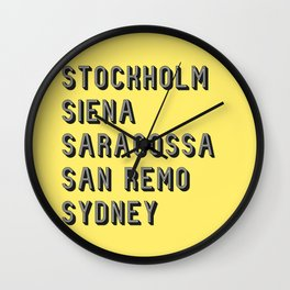 Join the Journey – Sydney Wall Clock