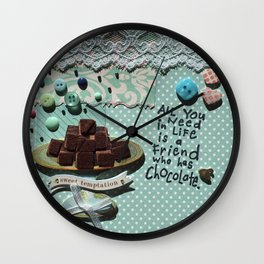 Blue chocolate Wall Clock