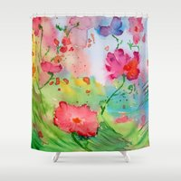 vertigo Shower Curtains featuring Vertigo by Lidia von Essen