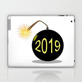 Cartoon 2019 New Year Bomb Laptop & iPad Skin