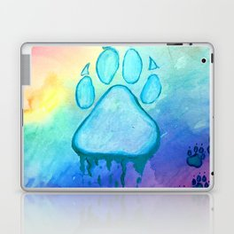 Painted Paw Prints on the Heart Laptop & iPad Skin