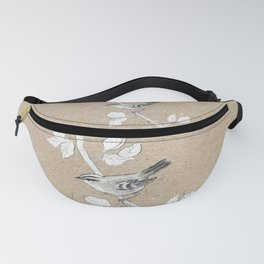 Goldcrest graphite drawing Fanny Pack