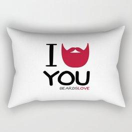 I BEARD YOU Rectangular Pillow