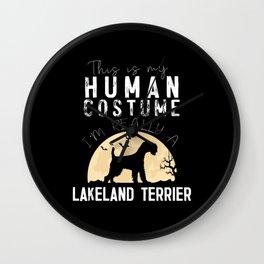 Halloween Human Costume Lakeland Terrier Wall Clock